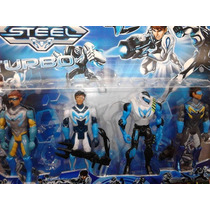 Max Steel Turbo - Kit Com 4 Bonecos - Pronta Entrega