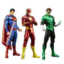 Superman Ou Flash Ou Lantena Verde Crazytoys Artfx 20cm