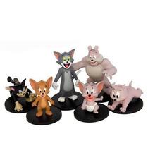 Tom E Jerry 6 Miniaturas Colecionáveis Jazwares Oficial