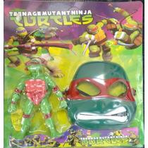 Mascara Com Boneco Dos Tartarugas Ninjas De Plastico Com Luz