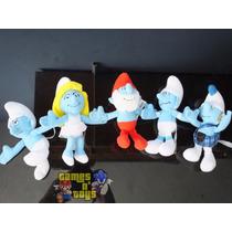 Lote Bonecos Pelúcia Agarradinho Desenho Smurfs Mc Donalds