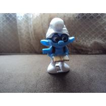 Boneco Personagem Brainy Do Smurfs Mc Donald