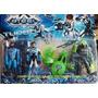 Kit Max Steel 3 Personagens + Acessórios Lançador 5 Peças