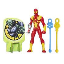 Boneco Iron Spider 14 Cm Lança Teias - Web Warriors - Hasbro
