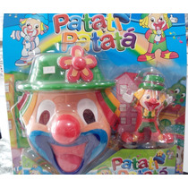 Kit Boneco Palhaço Patati Patatá + Máscara