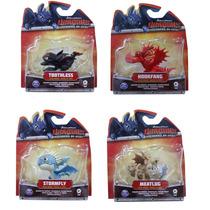 Kit Com 4 Mini Figuras Articulada Como Treinar Seu Dragão
