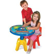 Mesa Com Cadeira Infantil Galinha Pintadinha Original Lider