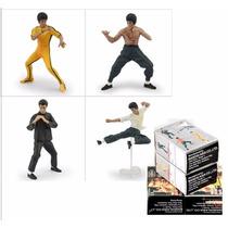 Coleção Bonecos Bruce Lee C/ 4 Minifiguras 4 Caixas Lacradas