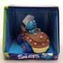 Boneco Smurf Cozinheiro No Carrinho Licenciado - Divertoys