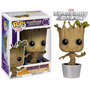 Pop Marvel Guardians Of The Galaxy Dancing Groot Funko
