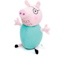 Novo Boneco Pelúcia Da Estrela Peppa Pig Papai 35 Cm