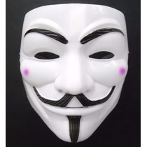 Máscara V De Vingança Protesto Anonymous Vendetta Guy Fawkes