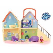 Casa Da Peppa Pig Da Estrela C/ 12 Acessórios - Original