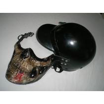Mascara Capacete Maxilar Esqueleto Terror Assustador