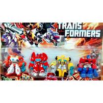 Kit Com 4 Bonecos Transformers Rescue Bots Boneco Rescuebots