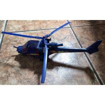 Raridade: Helicóptero Trovão Azul Glasslite. Fricção Anos 90