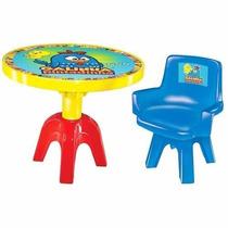Mesa E Cadeira Infantil Quarto De Criança Galinha Pintadinha