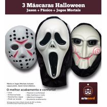 3 Mascaras De Terror E Monstros Todas Emborrachadas