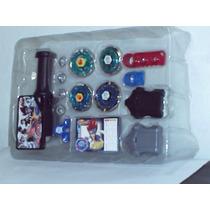 Kit Com 4 Beyblades 2 Lançadores Grip Laucher Frete Gratis