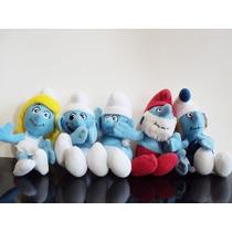 Lote 5 Bonecos Coleção Smurfs Pelucias Mc Donalds