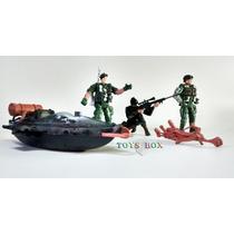 Boneco Força Militar Brinquedo 6 Peças Kit Aventura