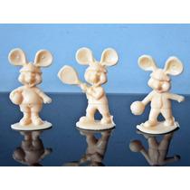 Lote 3 Mini Bonecos Do Ratinho Topo Gigio Esportes Anos 80