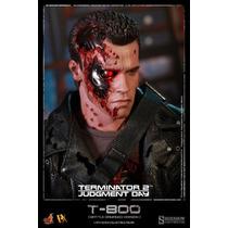 Hot Toys Dx13 Terminator 2 Exterminador T-800 Battle Damage