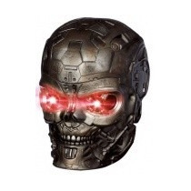 Capacete Mascara Exterminador Do Futuro T600 Som E Luz