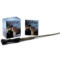 Kit Varinha Montável E Livro De Adesivos Harry Potter - Novo