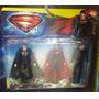 3 Bonecos Super Homem - Super Man - Miniatura Heróis