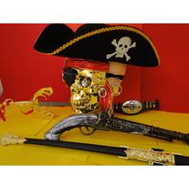 Cinturão Piratas Do Caribe Fantasia Jack Sparrow Armas