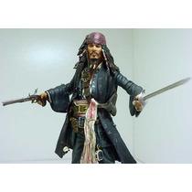 Johnny Depp Jack Sparrow Piratas Caribe Disney Filme Neca Dc