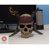 Crânio Piratas Do Caribe Capitão Jack Sparrow Johnny Depp