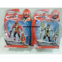 Power Rabgers Super Megaforce Rangers Vermelho E Prata Sunny