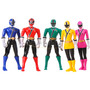 Boneco Power Rangers Samurai Kit Com 5 Personagens Original