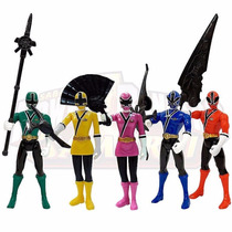 5 Power Rangers Samurai Ranger Team Articulados 11 Cm Bandai