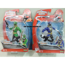 Power Rangers Super Megaforce Ranger Azul E Verde Sunny