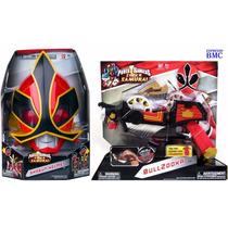 Máscara Shogun Com Bullzooka Power Rangers Samurai Bandai
