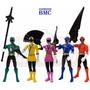 5 Power Rangers Samurai Ranger Team Articulados 11cm Bandai