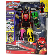 Boneco Power Ranger Super Megaforce - Lendário Megazord 30cm
