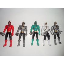 Bonecos Kit 5 Power Rangers Samurai Ranger