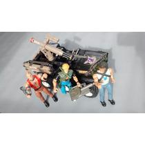 Lote Coleção Rambo Com Jipe Bonecos E Acessórios Mad E T.d