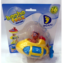 Brinquedo Que Nada Para Banheira Bebê Banho Feliz ( Nave )