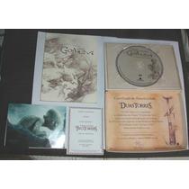 Edição Limitada Colec. Dvd Livro Criação Gollum Senhor Aneis
