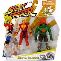 Street Fighter - Ken Vs Blanka - Figuras Jazwares - 11cm