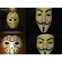 Kit Máscaras Jason Sexta13/ V De Vingança Anonymous Vendetta