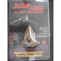 Comunicador Pin Eletronico Star Trek (klingon) Com Som