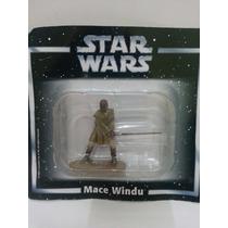 Miniatura Star Wars Mace Windu Planeta Agostini Chumbo