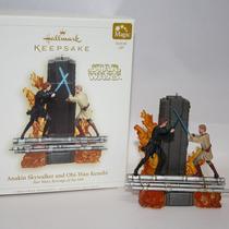 Hallmark Star Wars Ornament Anakin X Obi-wan C/ Luz