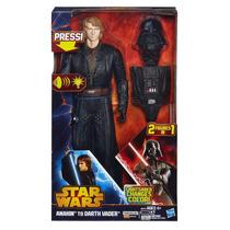 Boneco Star Wars Anakin Darth Vader Hasbro Sabre Luz Sons